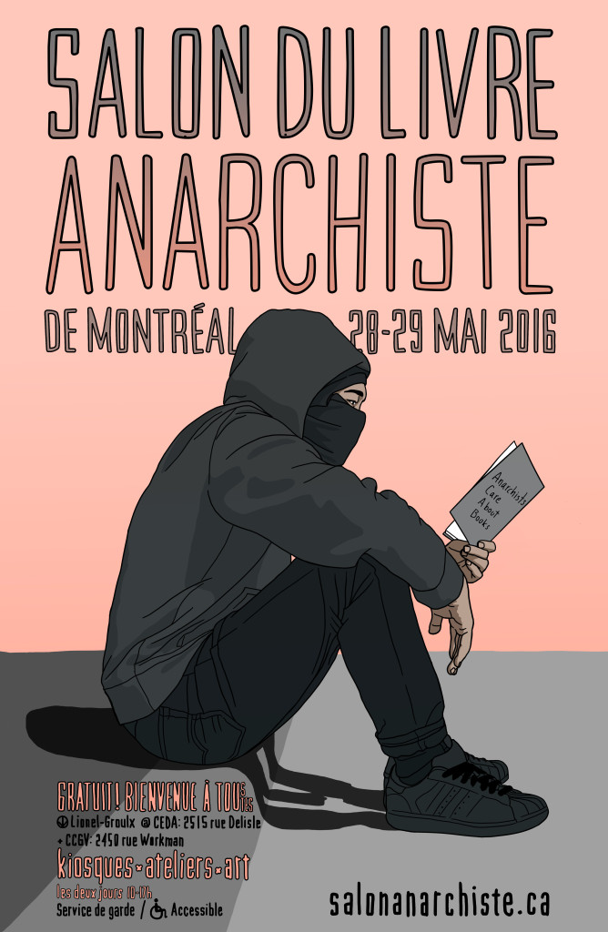 Salon du livre anarchiste de montr al 2016 for Salon du livre brive
