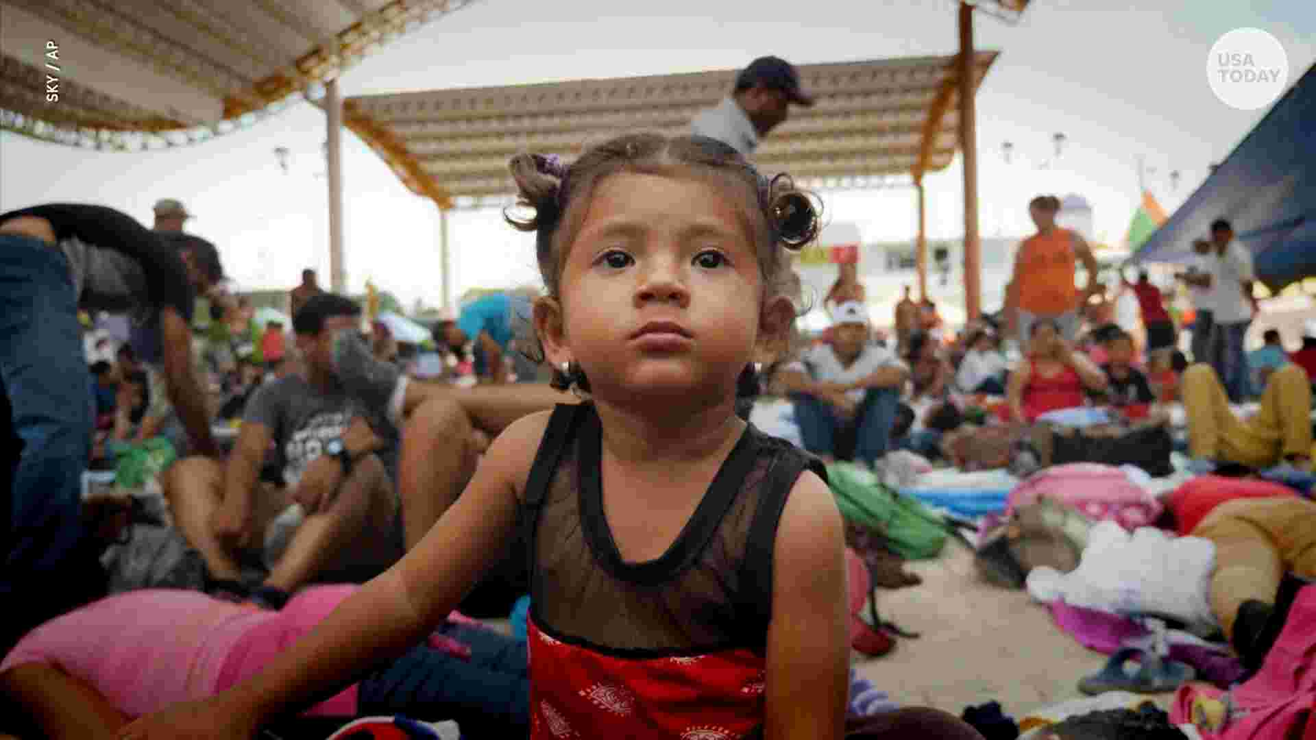 Migrant caravan reaches Chiapas, October 2018.